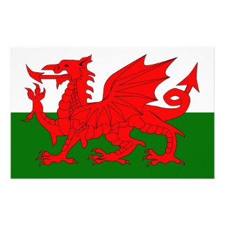 Welsh Dragon Flag Customized Stationery