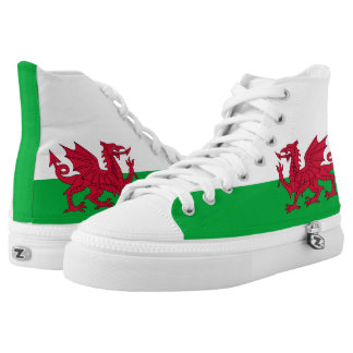 Welsh dragon flag High Top Shoes Printed Shoes