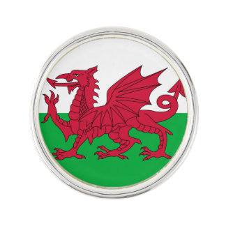 Welsh dragon flag lapel pin