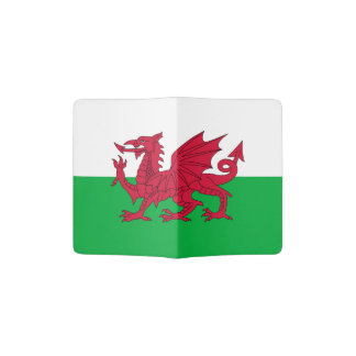 Welsh dragon flag passport holder