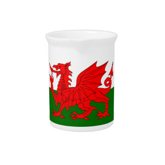 Welsh Dragon Flag Pitcher