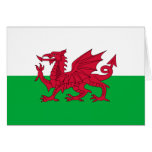 Welsh dragon flag stationery note card