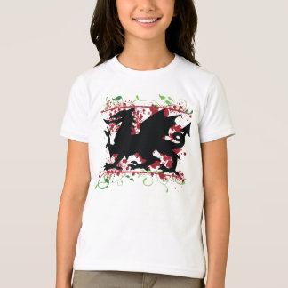 Welsh Dragon Girl's Ringer T-Shirt