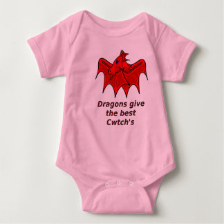 Welsh dragon give the best cwtch's wales baby grow baby bodysuit