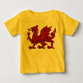 Welsh Dragon Grunge - Baby T-Shirt