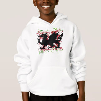 Welsh Dragon Kid's Hoodie Sweatshirt