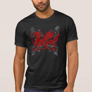 Welsh Dragon Men's Dark Shirt