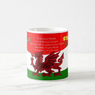 Welsh Dragon Mug With Poem By Brian Harris