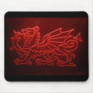 Welsh Dragon Neon Mosepad, Mousemat