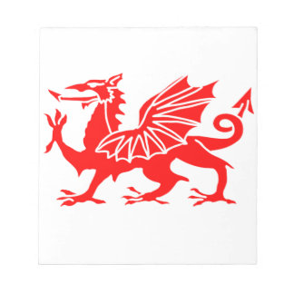 Welsh Dragon Notepad