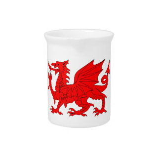 Welsh Dragon Pitcher