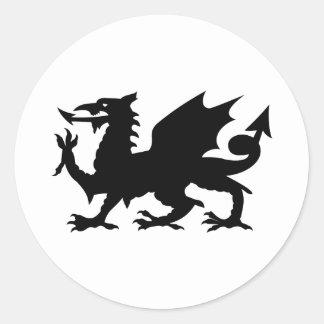 Welsh Dragon Round Sticker
