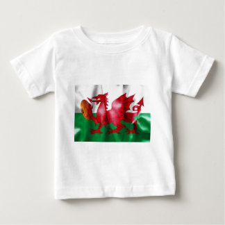 Welsh Dragon Rugby Ball Flag Shirts