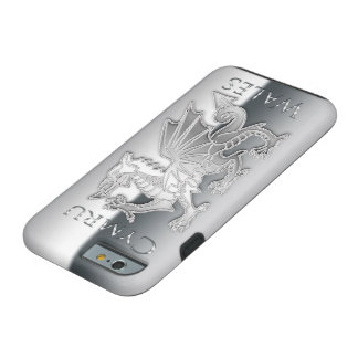Welsh Dragon Silver Effect iPhone 6, Tough Tough iPhone 6 Case