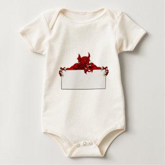 Welsh Dragon Sports Mascot Sign Baby Bodysuit