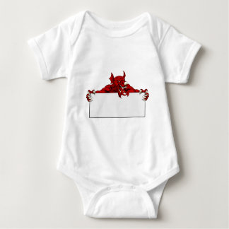 Welsh Dragon Sports Mascot Sign Baby Bodysuit