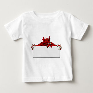 Welsh Dragon Sports Mascot Sign Baby T-Shirt