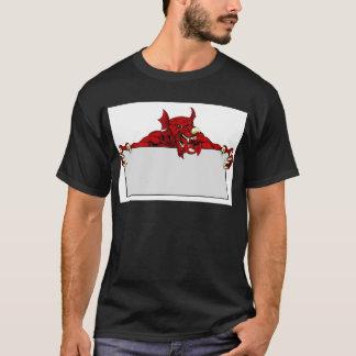 Welsh Dragon Sports Mascot Sign T-Shirt