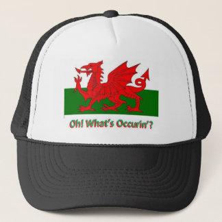 welsh dragon trucker hat