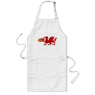 Welsh Dragon With a Rugby Ball Kitchen Apron
