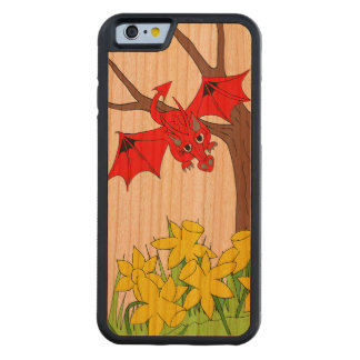 Welsh dragon with daffodils wood iPhone 6 case