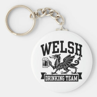 Welsh Drinking Team Basic Round Button Key Ring