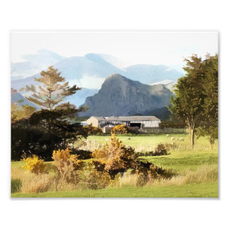WELSH FARM AND MOUNTAINS PHOTO