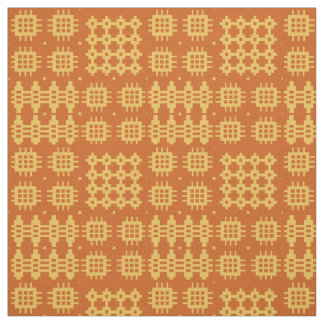 Welsh Faux Tapestry Brick on Yellow Pattern Fabric