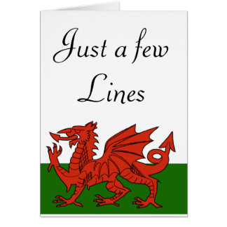 Welsh Flag Card