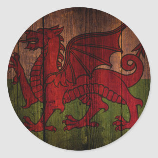 Welsh flag. classic round sticker