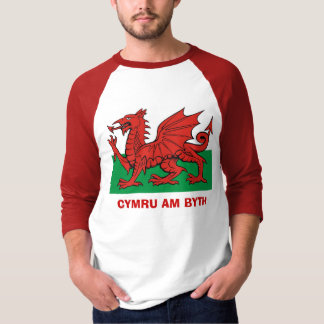 Welsh flag, Cymru am byth Tshirts