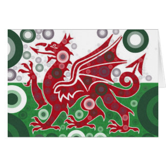 Welsh Flag Design Card