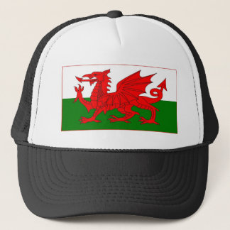 Welsh flag designs trucker hat