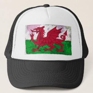 Welsh Flag Grunge Trucker Hat