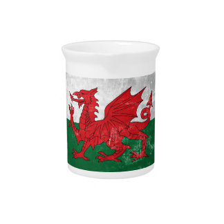 Welsh Flag Pitcher