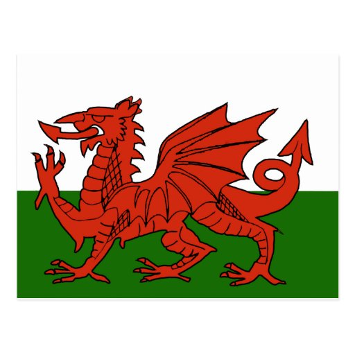 Welsh Flag Post Card