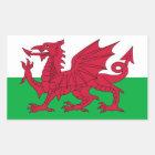 Welsh Flag Rectangular Sticker
