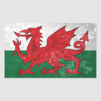 Welsh Flag Rectangular Sticker