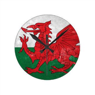 Welsh Flag Wallclock