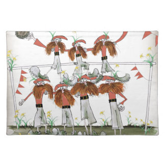 welsh football defenders placemat