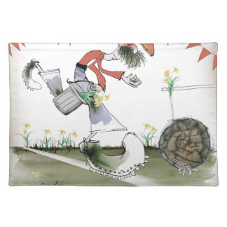 welsh football right winger placemat