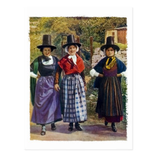 Welsh Girls Postcard