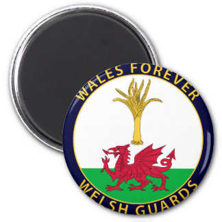 Welsh Guards 6 Cm Round Magnet