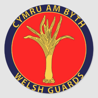 Welsh Guards Classic Round Sticker