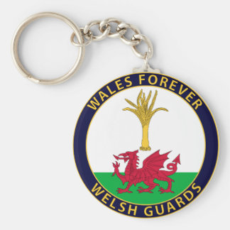Welsh Guards Basic Round Button Key Ring