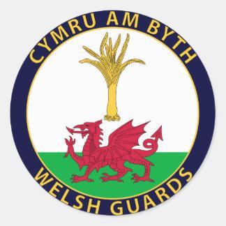 Welsh Guards Round Sticker