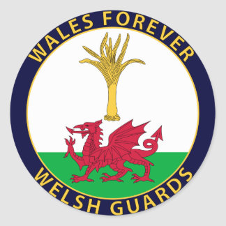 Welsh Guards Round Stickers