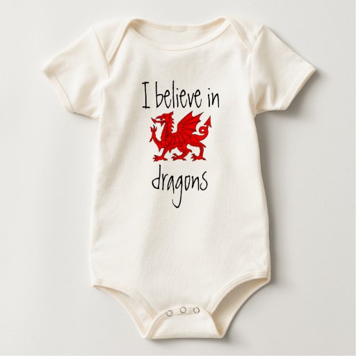 Image of Welsh - I Believe in Dragons Baby Creeper