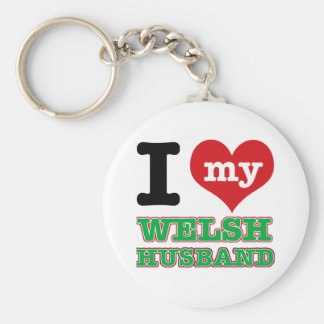 Welsh I heart designs Key Ring