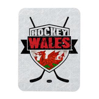 Welsh Ice Hockey Shield Magnet